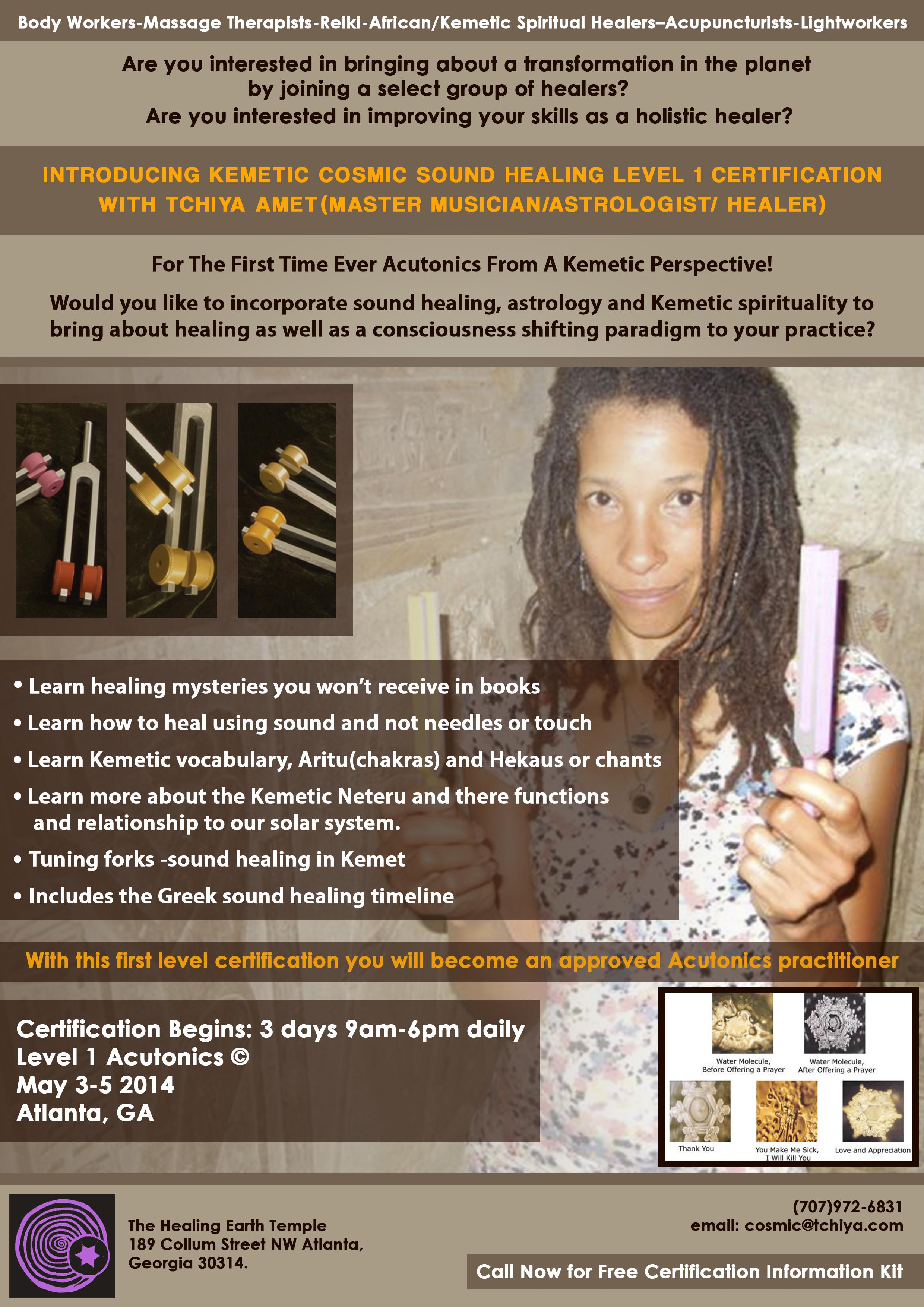 Kemetic Sound Healing Tchiya Amet El Maat Natural Health Therapist