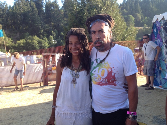 with Cat from Third World! First Reggae Band I ever saw perform, or was even aware of!