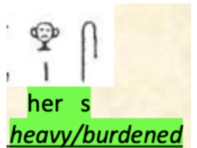 Her S, Heavy, Burdened